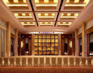 酒店宴会厅3D模型3D模型下载【ID:573889】
