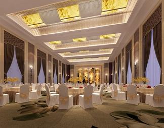 酒店宴会厅3D模型3D模型下载【ID:573871】