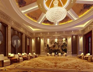 酒店宴会厅3D模型3D模型下载【ID:573890】