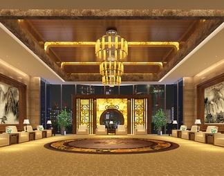 酒店宴会厅3D模型3D模型下载【ID:573898】