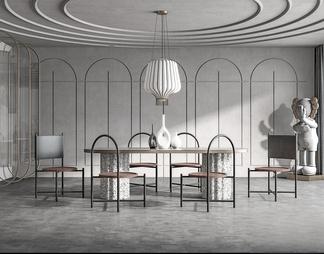 现代餐厅3d模型下载【ID:580786】