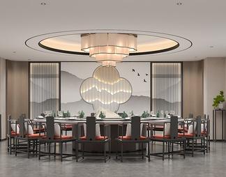 餐厅包间3D模型3D模型下载【ID:584997】