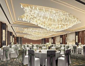 酒店宴会厅3D模型3D模型下载【ID:587544】