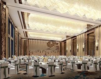 酒店宴会厅3D模型3D模型下载【ID:587952】