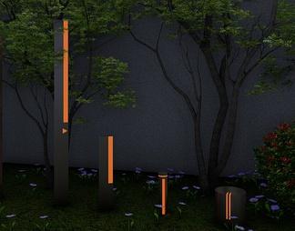 景观灯具组合SU模型下载【ID:603216】