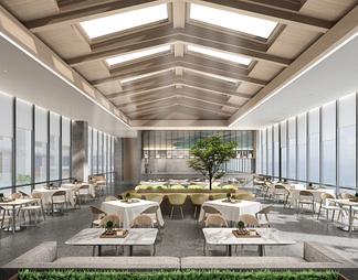 餐饮空间3D模型3D模型下载【ID:609379】
