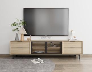 电视柜电视机SU模型下载【ID:610513】
