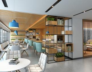咖啡厅3D模型3D模型下载【ID:635995】