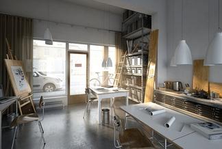 loft现代设计办公室