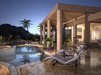 现代豪华别墅带游泳池