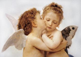 两个小天使画