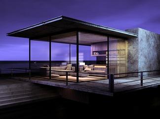 现代天台别墅