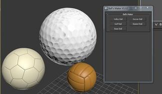 足球排球高尔夫球生成器