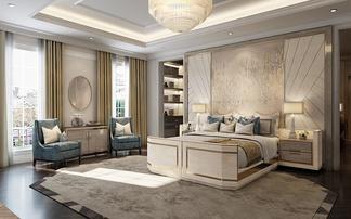 现代别墅卧室