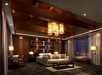 中式卧室别墅