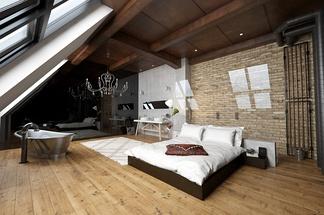 东南亚尖顶卧室