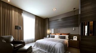 深色卧室空间酒店卧室