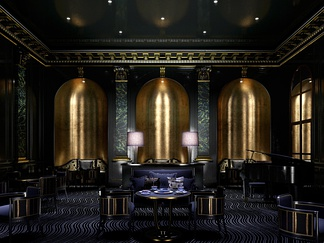 欧式豪华餐厅暗色系