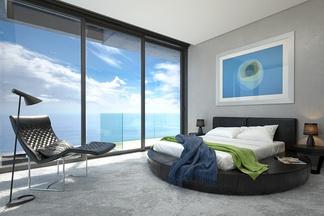 现代海景卧室