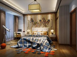 卧室主卧单人床