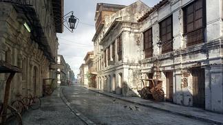 西式古典街道建筑