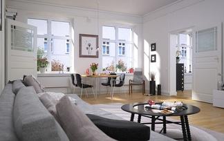 现代明亮客厅