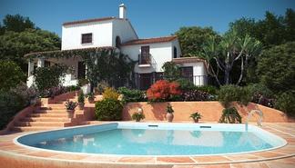地中海带泳池别墅