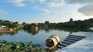 中式公园颐和园风