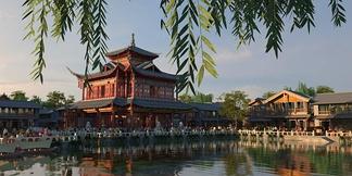 中式公园楼阁