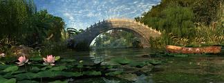 中式公园桥