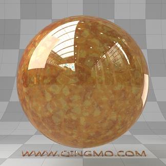 橙黄琥珀宝石