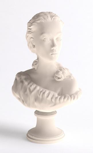 西方人物头雕塑
