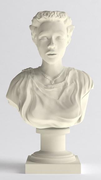 西方半身人物雕塑