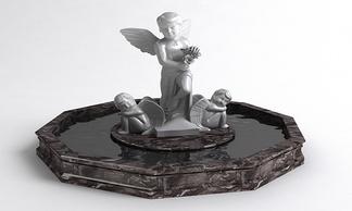 小爱神雕塑翅膀