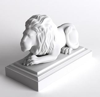动物狮子雕塑