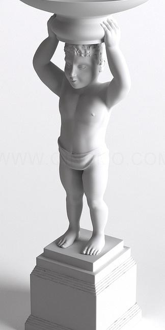 西方人物小孩雕塑