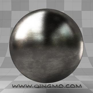 写实高光咖啡色金属