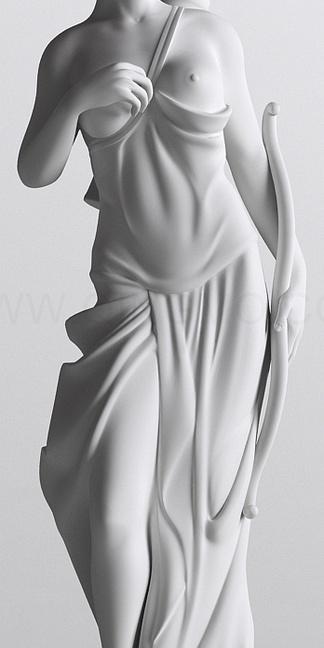 西方全身人物女雕塑