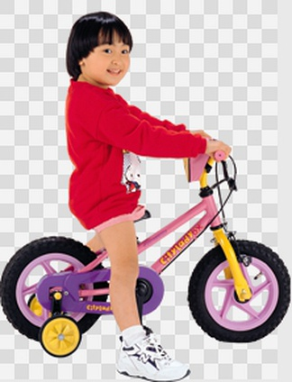 骑车的儿童