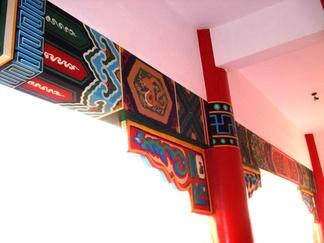 中国墙柱彩绘