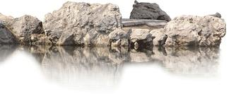 园林假山石头池塘