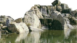 园林假山石头瀑布
