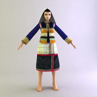 基诺族女士服装