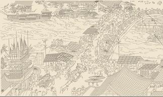 中国元素壁画