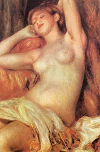 雷诺阿睡觉的女人壁画