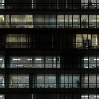 高分辨贴图晚上建筑立面