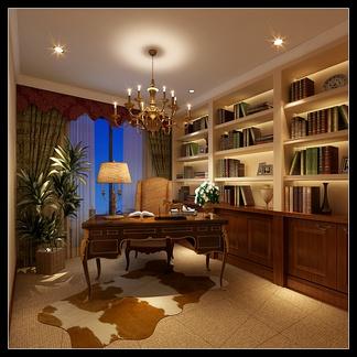 书房空间  欧式风格