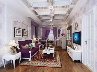 客厅空间  美式风格