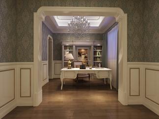 书房空间  美式风格