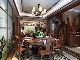 客厅空间  现代中式风格